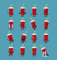 soft drink character emoji set vector image