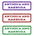 antigua and barbuda watermark stamp vector image