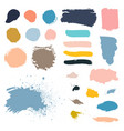 Grunge watercolor ink texture set vector image