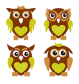 Cute Owls 2 vector image vector image