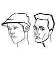 Cartooning faces of the man vector image