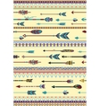 Ethnic Patterns with Arrows vector image vector image