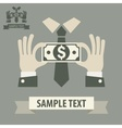 Business money concept vector image vector image