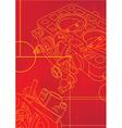 red mechanikal vector image