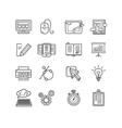 Design web site development theme icon set vector image vector image