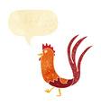 cartoon cockerel with speech bubble vector image