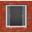 redbrick window vector image