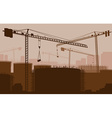 Construction Site Backdrop vector image