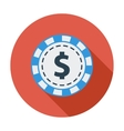 Gambling chips flat icon vector image