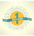 modern holiday 1 anniversary banner vector image