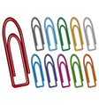 paper clip collection vector image