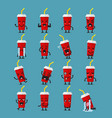 soft drink character emoji set vector image