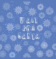 vintage winter christmas banner with lettering vector image