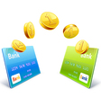 Money transfer from card to card vector image vector image