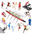 Sport Isometric Sportsmen Game Set Olympic vector image vector image