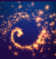 abstract swirl of glowing particles vector image