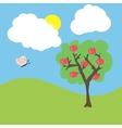 cartoon garden vector image vector image