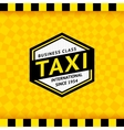 Taxi symbol with checkered background - 09 vector image vector image