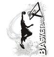 Basketball slam jam vector image vector image