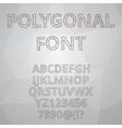 Polygon alphabet font style vector image