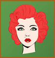 Red-haired girl vector image