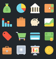 Finance Flat Icons vector image vector image
