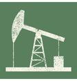 Oil derrick vintage vector image