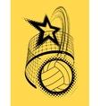 Volleyball super star design vector image