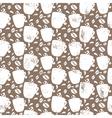 Seamless pattern for coffee themed Coffee cup and vector image
