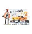 Auto detailing machine workroom vector image