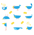 bluebirds communications character vector image