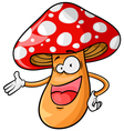 cartoon mushroom vector image