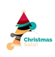 Colorful Christmas abstract banner design with vector image