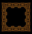 golden frame square vintage card vector image