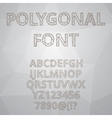 Polygon alphabet font style vector image
