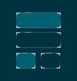 sci fi modern futuristic hud user interface vector image