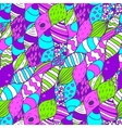 Seamless hand drawn pattern Bright vector image