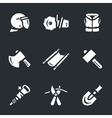 Set of Rescue tools vector image