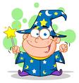 Wizard Boy Waving With Magic Wand vector image vector image