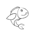 blurred sketch silhouette of bass fish vector image