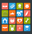 Pets Icons Set Flat vector image