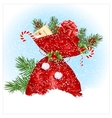 Christmas sack with presents vector image vector image