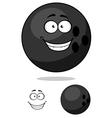 Cartooned bowling ball vector image