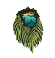 Lion with double exposure effect vector image