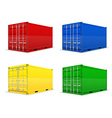 cargo container 014 vector image vector image