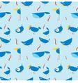 bluebirds seamless wallpaper vector image vector image