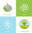 set of logo design templates - gardening concepts vector image vector image