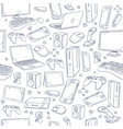 computer game device social gaming sketch vector image