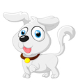 Cute cartoon baby dog posing vector image