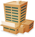 factory building vector image